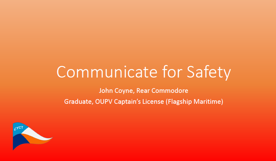 Communicate for Safety SS